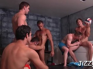 Classroom anal orgy on cam