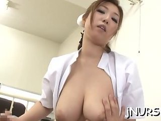 Nurse gets mouth stuffed