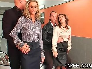 Wife fucks while clothed