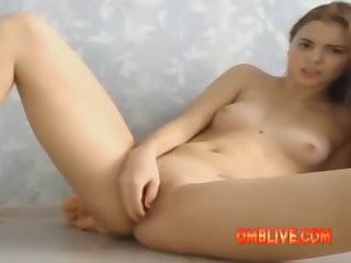 Play Tight Body Teen Hungry For Fast Vibe Banging Pussy