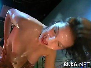 Slippery wet cumshots delight