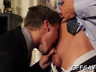 Intense anal sex during work