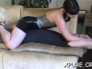 Tied up dude gets smothered