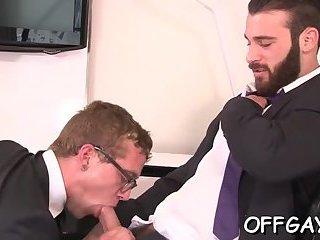 Sexy gay porn at work