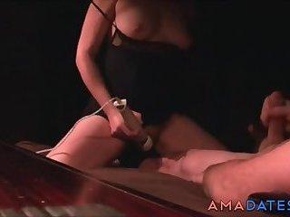 He jerks off while watching wife masturbate