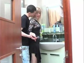 Fucking Mom in Laundry Room