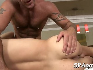 Sexy and wild gay blowjob