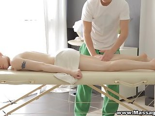 Massage-X - Lola Taylor - Sex on a folding massage table