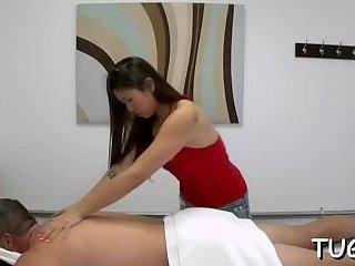 Enjoy watching sex during massage