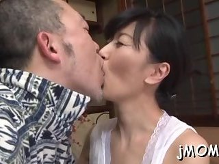 Mature's hairy cunt banged
