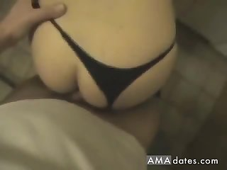 Horny GF strokes a cock