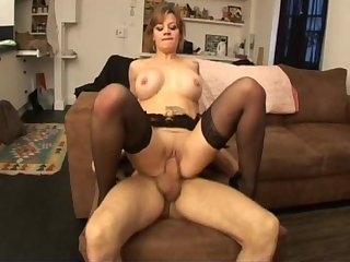 2 cocks for maryline a french milf