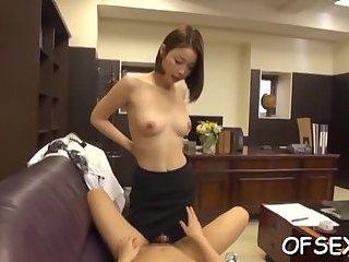 Hot couple enjoys offfice sex