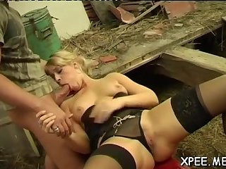 Kinky babe gets pissed on