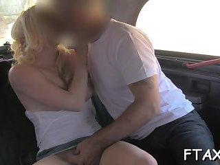 Merciless fucking in fake taxi