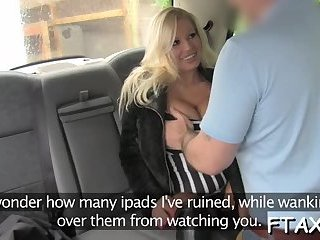 Stunning babe gets fucked in fake taxi
