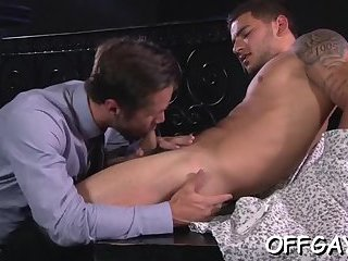 Office anal threesome