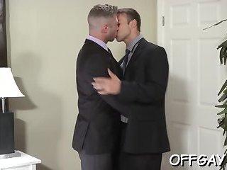 Premium gay oral at work