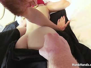 British Babe Squirts All Over The Hotel Bed In Real Massage! Amateur POV!