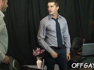 Premium gay sex at work