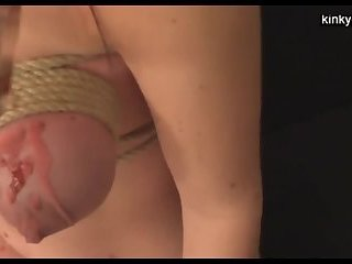 Fisting and waxing German slave Milla
