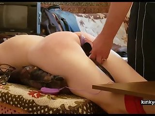 Kyra get flogged with pumped up pussy