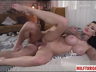Big tits milf anal squirt and cumshot