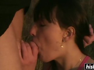 Young babe has fun with a delicious dick