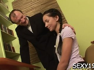 Raunchy spooning with teacher