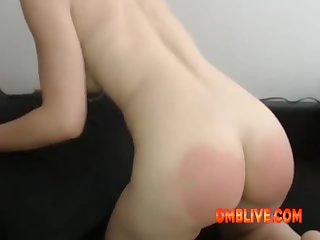Red Ass Cheeks Ready To Play The OMBLIVE Toy As You Wish
