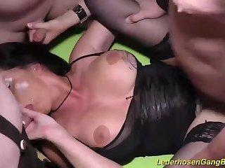 ganbang orgy with busty Milf Dacada