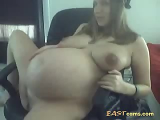Young Pregnant teasing on Cam