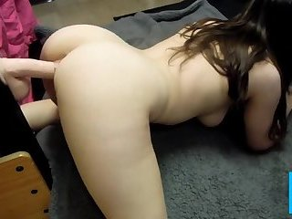 Chubby big ass girl toying her pussy in doggy style position