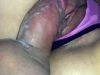 Fucking Ex with creamy pussy with thong ong
