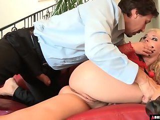 Tied up sex slave ordered around