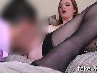 Fake agent cums during UK sex