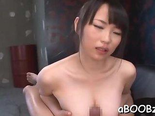 Asian beauty POV titjob