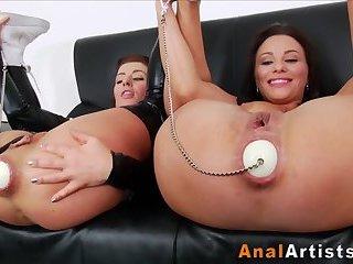 Ass toyed slut prolapse