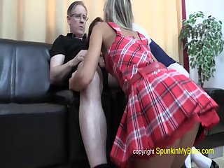 Gina Gerson - Anal Creampie from old fart threesome