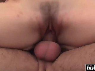 Horny guy destroys a hairy pussy