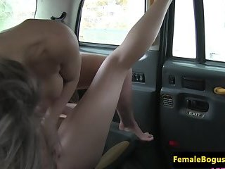 Inked cabbie sixtynined by busty lesbian babe