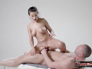 Brunette pornstar hardcore with massage
