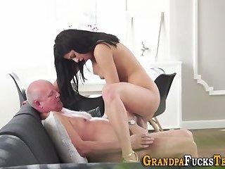 Teens little tits spunked