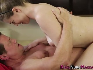 Mouth cummed masseuse