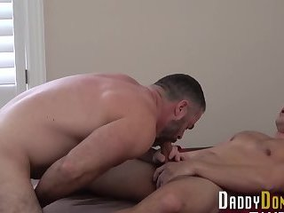Bear stepdad blows load