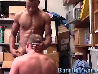 Muscly shoplifter fucked