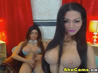 Naughty Shemales Gets Wild on Cam