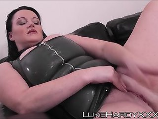 Busty big girl Devon creampied after an anal ride