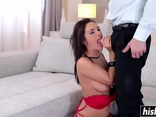 Young guy bangs a sweet brunette girl