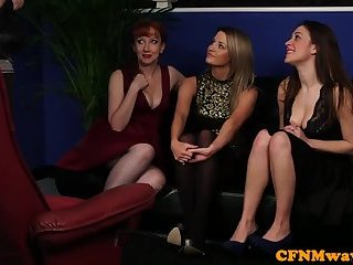 Femdom milf teaches babe how to dominate